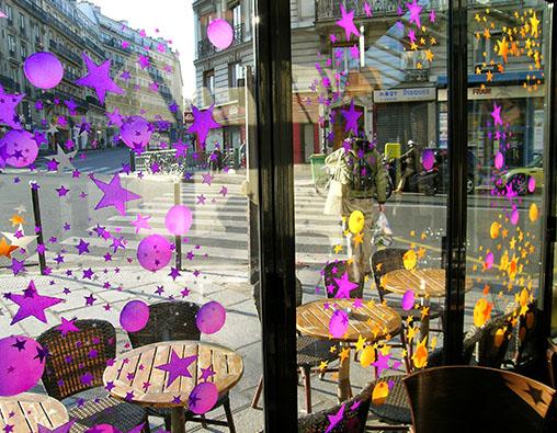 Peinture sur vitre noel art vitraux contemporains - Decoration de vitrine de noel ...