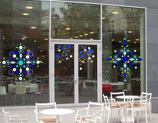 Peinture sur vitre noel art vitraux contemporains - Peindre sur une vitre ...